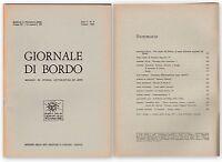 GIORNALE DI BORDO MENSILE DI STORIA LETTERATURA ARTE ANNO I N.4   1968