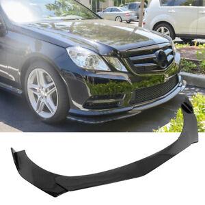 For Mercedes Benz W205 W204 W212 Carbon Fiber Front Bumper Lip Body Kit Spoiler
