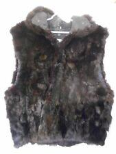 Andrew Marc Size L New Zealand Opossum Black fur vest  zip front