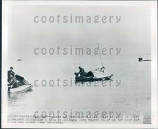 1950 Life Raft Crews Leave Milwaukee For Chicago Press Photo