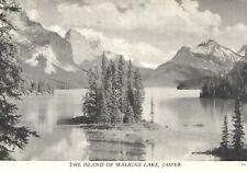 Vintage Postcard  The Island of Maligne Lake, Jasper, Alberta, Canada