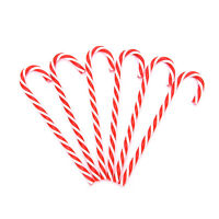 6 Xmas Tree Candy Cane Hanging Ornament Decoration Christmas Party Decor ZQH