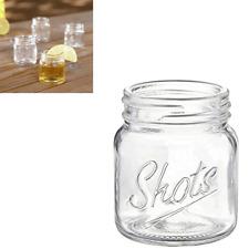 8 Pc Mason Mini Jar Shooter Glass Weeding Favor 3 Oz Souvenir Whiskey Bar Shot