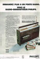 Publicité advertising 1973 Transistor radio Enrengistreur Philips