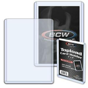 3 PK LOT 1CT NEW BCW THICK CARD 360PT 9MM TRADING CARD TOP LOADERS 3X4 3 TTL