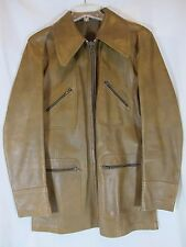 Vintage Brown Leather Mens Jacket JOFAMA  AB Size Med Sweden