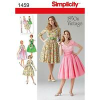 SIMPLICITY SEWING PATTERN 1950s VINTAGE MISSES' DRESS & SUMMERBUND   8 - 24 1459