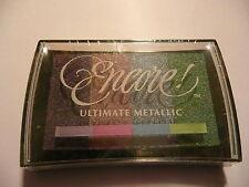 Motivstempel Stempelkissen metallic 4 Farben Tsukineko Encore Ultimate