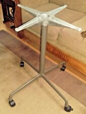 MID CENTURY GENUINE HERMAN MILLER EAMES TABLE BASE WITH LOCKING CASTORS
