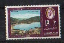 SHARJAH UAE 1965 SG144 RARE INVTD BARS OVPT MNH *