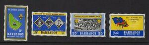 BARBADOS  1972  4th. Caribbean Jamboree & Diamond Jubilee of Scouts.  MNH