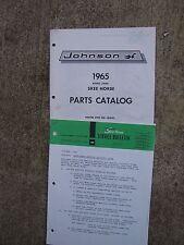 1965 Johnson Skee Horse Snowmobile Parts Catalog J1400 Engine Spec #161042 U