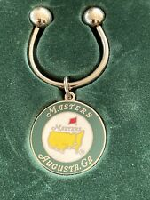 New listing Masters Augusta National key chain, Silver With Green, White, Yellow W/Red Flag