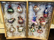 Pottery Barn Twelve 12 Days of Christmas Mercury Ornaments New In Box Decor