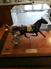 Trophy Vintage Sulky Racing Horse and Buggy Running Figure hand made detailed