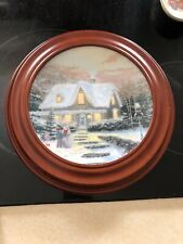 Thomas Kinkade Collector Plate Home To Grandma'S w/ Wooden Frame 2nd issue