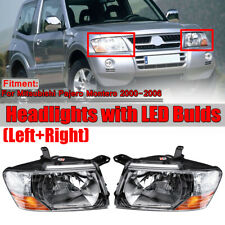 For 2000-2006 Mitsubishi Pajero Montero Left+Right Set Front Head Lamps  !*