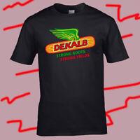 Dekalb Corn Harvest Logo Men's Black T-Shirt Size S-3XL