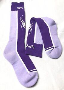 Spyder Kids Girls Sweep Ski Snowboard Purple Socks Sz. Medium 12- 2.5
