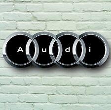 AUDI LOGO 700mm groß GARAGE ZEICHEN WAND-PLAKETTE AUTO KLASSISCH WERKSTATT S4 S3