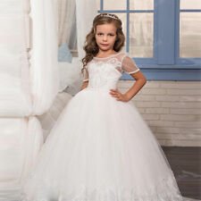 2020 Communion Party Prom Princess Pageant Bridesmaid Wedding Flower Girl Dress+