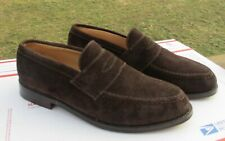 Alfred Sargent Chcocolate Brown Suede Loafers UK 7 E Shoes Clean
