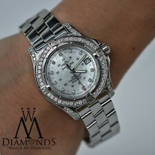 Breitling Colt A74380 Stainless Steel 41.1mm Mother Of Pearl Dial Diamond Bezel