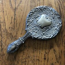 antique silver hand mirror