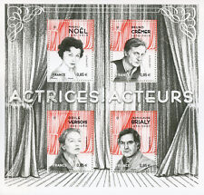 France 2017 MNH Actresses & Actors Magali Noel Bruno Cremer Brialy 4v M/S Stamps