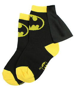 DC Comics Superhero Batman Superman The Flash Youth Boys Caped Crew Socks