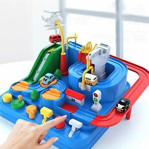 Car Adventure Toys Game Manual Rail Train Track Children Kids  Education Toy