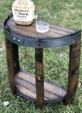 Custom built Reclaimed whiskey barrel end table