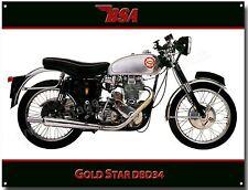 BSA GOLDSTAR DBD34 MOTORCYCLE METAL SIGN.VINTAGE BSA MOTORCYCLES.1960'S