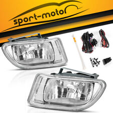 for 1999-2004 Honda Odyssey Clear Lens Bumper Fog Light Lamp w/Switch+Wiring KIT