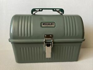 Stanley Classic Green 5.5qt Large Metal Flip Top Lunch Box NEW Open Box.