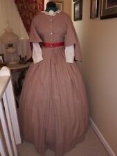 Civil War Reenactment Drop Sleeve Day Dress Size 10