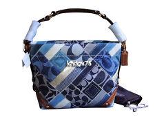 New With Tags Authentic Coach Patchwork CarIy Indigo/Denim Bag Purse 12215 $398
