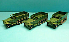 MATCHBOX LESNEY no 49a WWII US M3 PERSONNEL CARRIER 3X DIECAST VVF NO BOX LOT