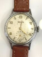 Zenith Vintage Acciaio Steel Case Swiss Made Mens Watch Cal. 88.8