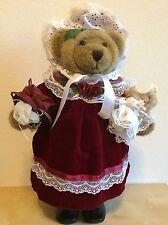 "Vtg Creative Design Ltd 20"" Bear Plush Decor Figure Collector Statue Choco Brown"