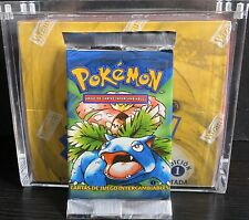 POKEMON 1ST EDITION BASE SET BOOSTER PACK VENUSAUR ARTWORK *UNWEIGHED*SPANISH*