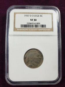 1937 d 3 legged buffalo nickel ngc