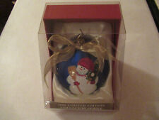 "2006 Jc Penney Limited Edition 5"" Christmas Snowman Ornament New"
