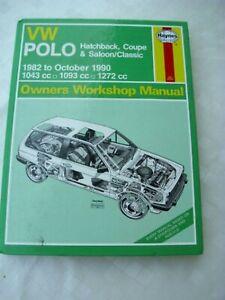 VW Polo, Haynes Reparaturanleitung 813, owners workshop manual