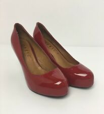OFFICE Dorothys Friend Red Patent Leather Womens Court Shoes Size 3 UK