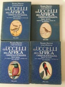 Moltoni, Gnecchi Ruscone UCCELLI AFRICA ORIENTALE ITALIANA 4 vol. opera completa