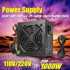 1000W Computer Power Supply PSU PFC SATA ATX 24-PIN Silent Fan For Inter AMD Kit
