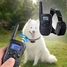 LCD Display Remote Dog Shock Training Collar Electric Waterproof Rechargeable