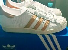MEN'S ADIDAS SUPERSTAR 80'S Shell Toe WHT/GOLD (SIZE 9)