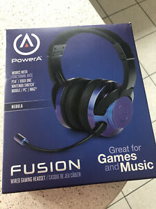Xbox One, PS4, PC, Switch Wired Headset PowerA Fusion